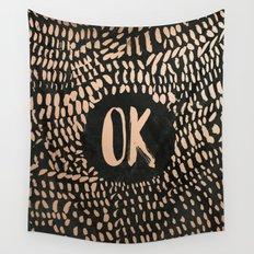 Rosegold OK Wall Tapestry