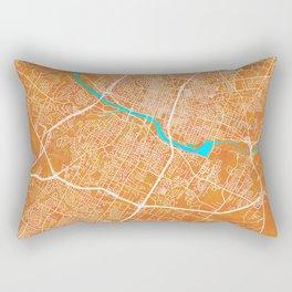 Austin, TX, USA, Gold, Blue, City, Map Rectangular Pillow