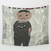 goth Wall Tapestries featuring Goth Boy  by Drake Darklight
