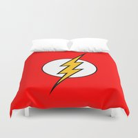 flash Duvet Covers featuring Flash by Merioris