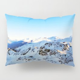 Shades of blue at the mountains Pillow Sham