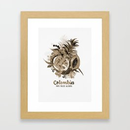 Fruits of Colombia | Frutas Colombianas | Sepia Framed Art Print