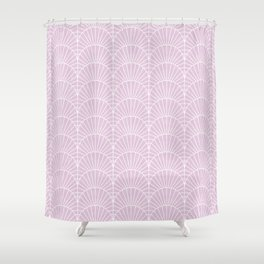 Art Deco Lavender Fields by Friztin Shower Curtain