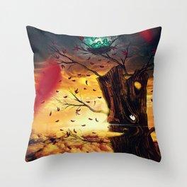 The Last Autumn Throw Pillow