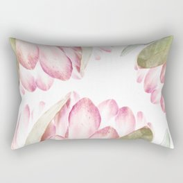 Pink Protea Flower Rectangular Pillow