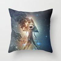 war Throw Pillows featuring War Of The Worlds II. by Dctr. Lukas Brezak