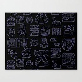 Picto-glyphs Story--Negro Canvas Print