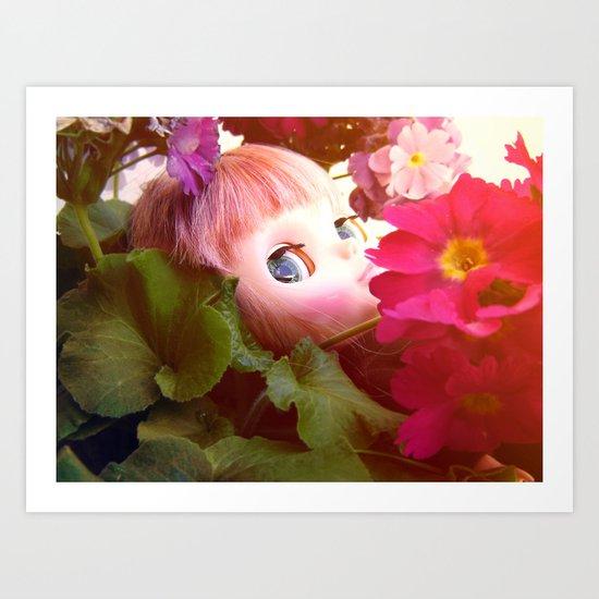 Bed flower Art Print