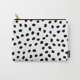 Black daps on white Carry-All Pouch
