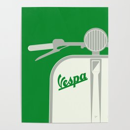 MY VESPA - FROM ITALY WITH LOVE - GREEN Poster