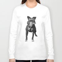 bulldog Long Sleeve T-shirts featuring bulldog by Panic Junkie