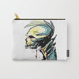 Bleeding Punk Skull Carry-All Pouch