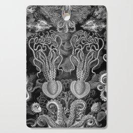 The Kraken (Black & White - NoText, Alt.) Cutting Board