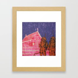 """""""Interplanetary Contact-A Strange and Foreign Land."""" Framed Art Print"""