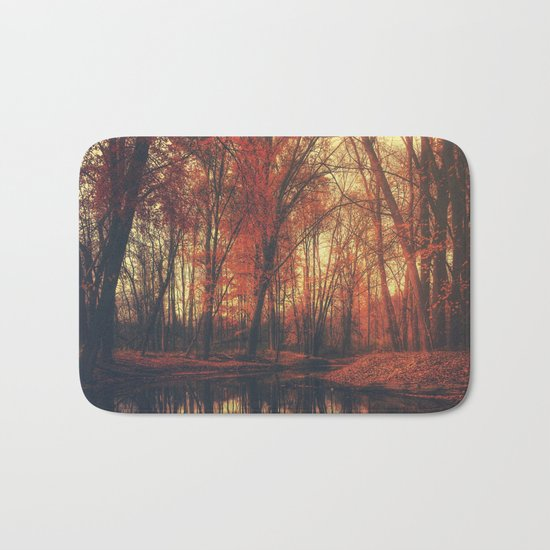 Where are you? Autum Fall - Autumnal forest Bath Mat