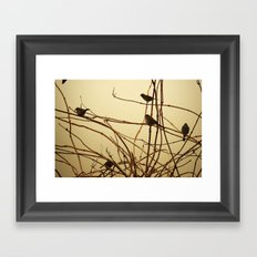 it was early, the sparrows were stiff Framed Art Print