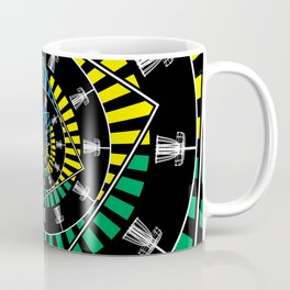 Spinning Disc Golf Baskets Coffee Mug