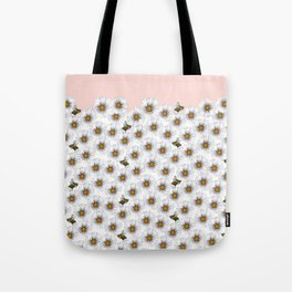 Bees on Daisies - Flora & Fauna Tote Bag