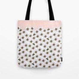 Bees on Daisies - Flora & Fauna Tote Bag