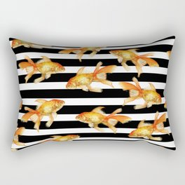 The Golden One II - b&w stripes Rectangular Pillow