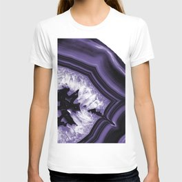 Ultra Violet Agate Chic #1 #gem #decor #art #society6 T-shirt
