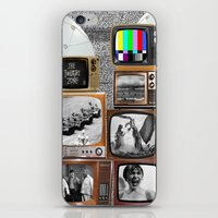 tv iPhone & iPod Skins featuring Television by Logan Amick