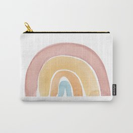 Over the rainbow, abstract watercolor geometric print Carry-All Pouch