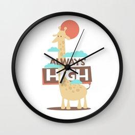 Always High Giraffe Wall Clock