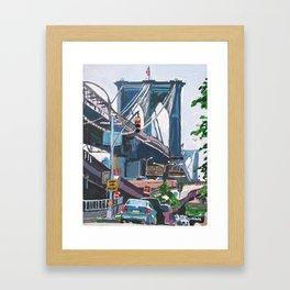 Under the Brooklyn Bridge Framed Art Print