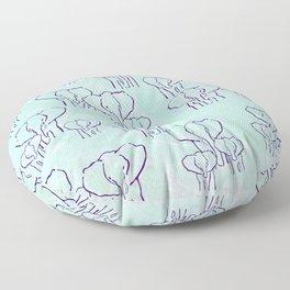 Pastel Elephants Floor Pillow