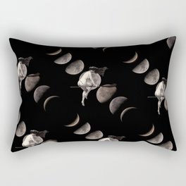 Moon Phases with Vintage Witch Rectangular Pillow