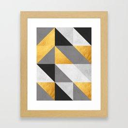Gold Composition I Framed Art Print