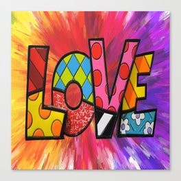 Exploding Love Canvas Print