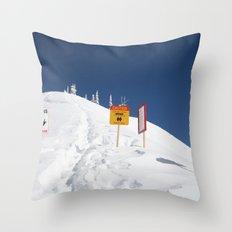 Signs Of Danger Throw Pillow