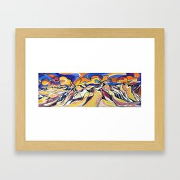 Sunset Over the Icefield Framed Art Print