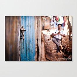 Africa Yoga Project teacher in slums Canvas Print