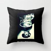 beer Throw Pillows featuring Beer by Derek Fleener