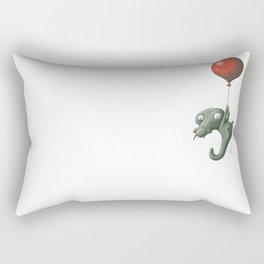 Crocodile in Trouble Rectangular Pillow