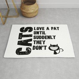 Cats are Temperamental Rug