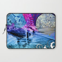 Purple Moon Retro Vibes Laptop Sleeve
