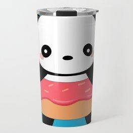 Kawaii Donut Panda Travel Mug