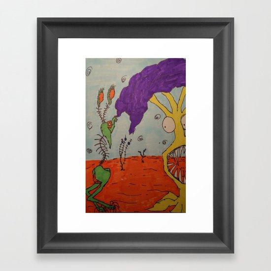 Tim and Missis Tree Framed Art Print