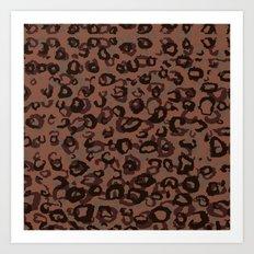 Brick Leopard Camo Art Print