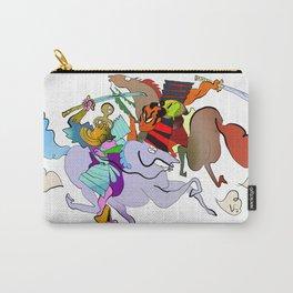 Octopus Samurai VS Frog Bushi Carry-All Pouch