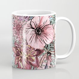 Tropical Pastel Pink Flower Hibiscus Garden Coffee Mug