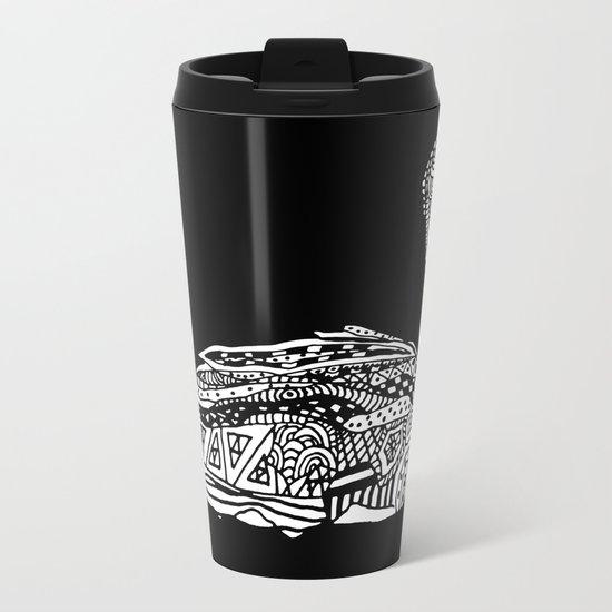 Dragon Swan  Metal Travel Mug