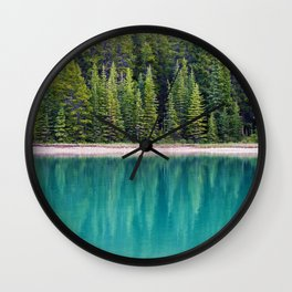 The Forest on the Water (Color) Wall Clock