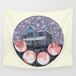 Pink Moon Wall Tapestry