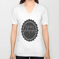 logo V-neck T-shirts featuring Logo by brookmariephotography