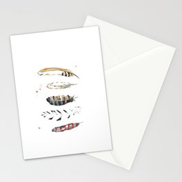 Five Feathers Stationery Cards